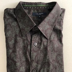 Ted Baker Men's Printed Paisley Button Down